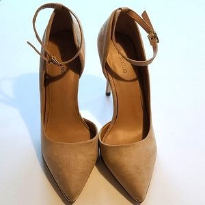 Call it Spring Beige Heels with Strap